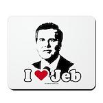 I Love Jeb Mousepad