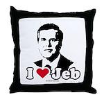 I Love Jeb Throw Pillow