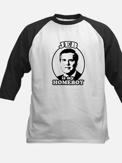 Jeb is my homeboy Kids Baseball Jersey