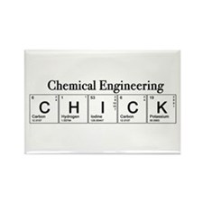 Chemical Engineering Chick Rectangle Magnet