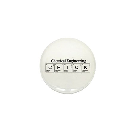 Chemical Engineering Chick Mini Button