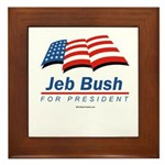 Jeb Bush for President Framed Tile