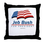 Jeb Bush for President Throw Pillow