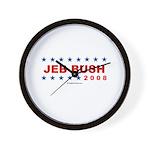 Jeb Bush 2008 Wall Clock
