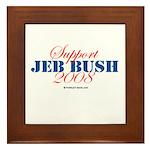 Support Jeb Bush Framed Tile