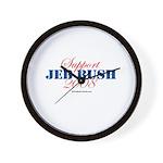 Support Jeb Bush Wall Clock