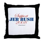 Support Jeb Bush Throw Pillow