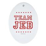 Team Jeb Oval Ornament