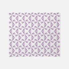 Purple Pinwheels Throw Blanket