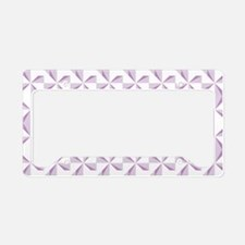 Purple Pinwheels License Plate Holder