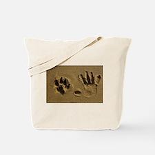Best Friends Hand Prints Tote Bag