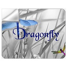 Blue Dragonfly Wall Decal