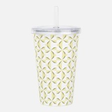Sage and Cream Pinwhee Acrylic Double-wall Tumbler