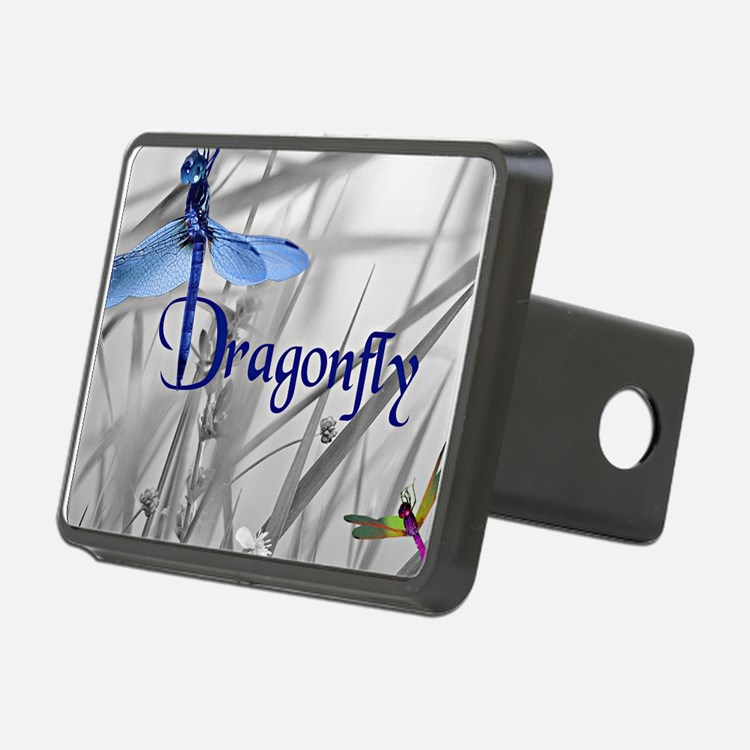 Blue Dragonfly Hitch Cover