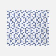 Cornflower Blue Pinwheels Throw Blanket