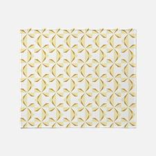 Cream and Gold Pinwheels Throw Blanket