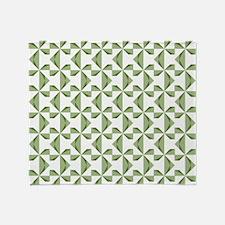 Green Pinwheels Throw Blanket