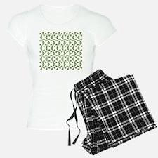 Green Pinwheels Pajamas