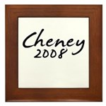 Cheney Autograph Framed Tile
