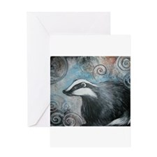 Spiral badger Greeting Card