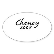 Cheney Autograph Oval Decal