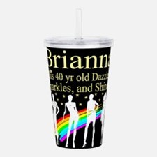 FANTASTIC 40TH Acrylic Double-wall Tumbler