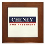 Cheney for President Framed Tile