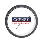 Cheney for President Wall Clock