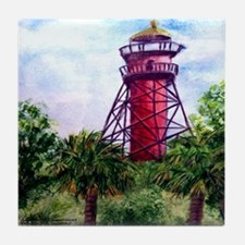 """Light at Anclote Key"" Tile Coaster"