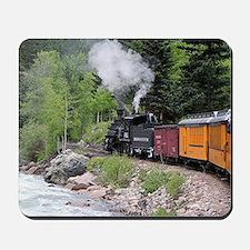 Steam train & river, Colorado Mousepad