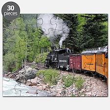 Steam train & river, Colorado Puzzle