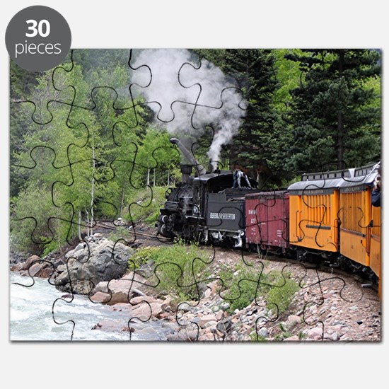 Steam train & river, Colorado Puzzle