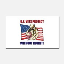 Vets Protect Car Magnet 20 x 12