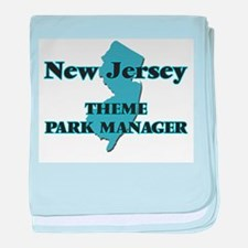 New Jersey Theme Park Manager baby blanket