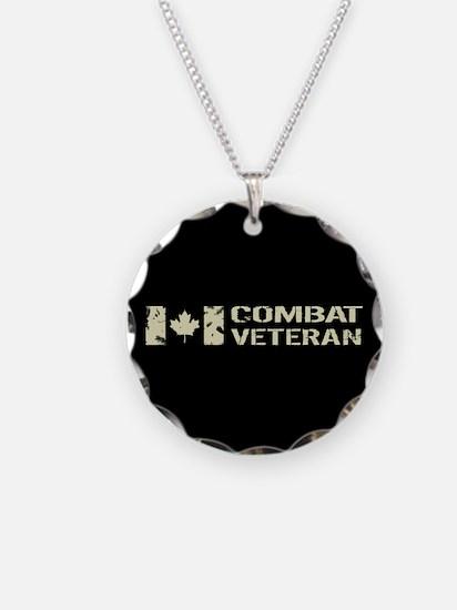 Canadian Flag: Combat Vetera Necklace