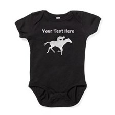 Horse Racing Silhouette Baby Bodysuit