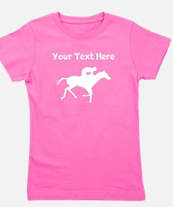 Horse Racing Silhouette Girl's Tee