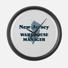 New Jersey Warehouse Manager Large Wall Clock