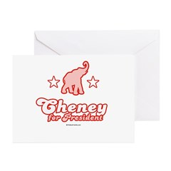Cheney for President Greeting Cards (Pk of 20)