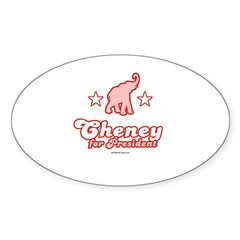 Cheney for President Oval Decal