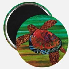 Honu Sea Turtle Warm Brown Green Magnet