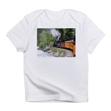 Steam train & river, Colorado Infant T-Shirt