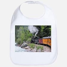 Steam train & river, Colorado Bib