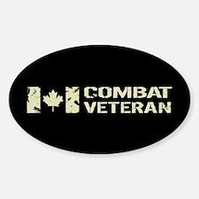 Canadian Flag: Combat Veteran Sticker (Oval)
