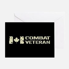 Canadian Flag: Combat Veteran Greeting Card