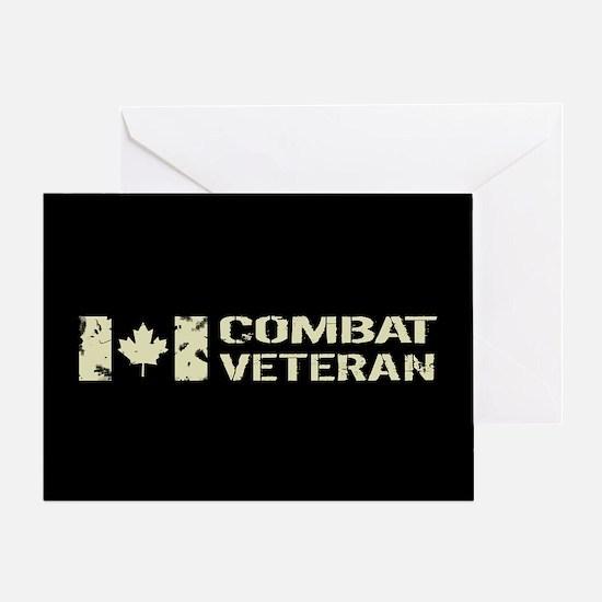 Canadian Flag: Combat Veteran Greeting Card