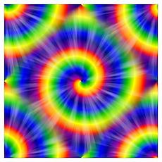 Tie Dye Pattern Tiled Poster