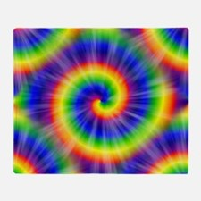 Tie Dye Pattern Tiled Throw Blanket