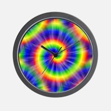 Tie Dye Pattern Tiled Wall Clock