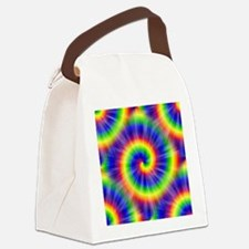Tie Dye Pattern Tiled Canvas Lunch Bag